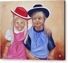 Lil Pardners Acrylic Print by Joni McPherson