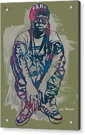 Lil Wayne Pop Stylised Art Poster Acrylic Print by Kim Wang