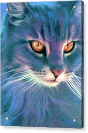 Acrylic Print featuring the painting Lilac Cat by Ragen Mendenhall