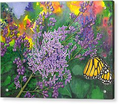 Lilac Acrylic Print by Catherine G McElroy