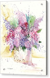 Acrylic Print featuring the painting Lilac Explosion by Sandra Strohschein