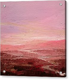 Lilac Hills Acrylic Print by Paul Mitchell