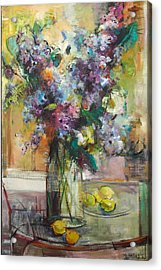 Lilacs And Lemons Acrylic Print by Blake Originals - Marjorie and Beverly