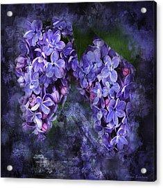 Lilacs Frenchy Scruff Acrylic Print