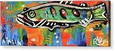 Lil'funky Folk Fish Number Fifteen Acrylic Print