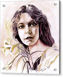 Lilian Gish Acrylic Print