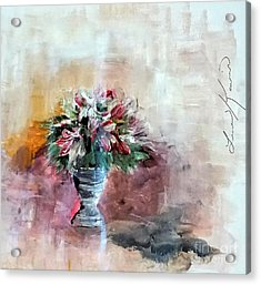 Lilies And A Blanket Painting Acrylic Print