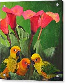 Lilies Grotto  Acrylic Print