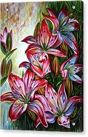 Lilies Acrylic Print by Harsh Malik
