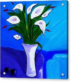 Lilies On My Table Acrylic Print