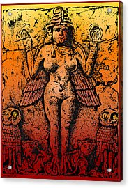 Lilith Goddess Of Death Queen Of The Night Acrylic Print by Larry Butterworth