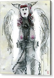 Acrylic Print featuring the painting Lilith by Matthew Mezo