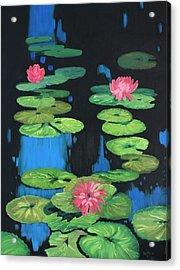 Lilly Pond Acrylic Print by Cynthia Riley