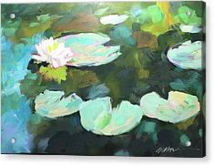 Lillypad Reflections Acrylic Print