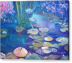 Lillypads Acrylic Print by Judy Groves