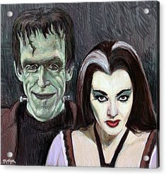 Lily And Herman Munster Acrylic Print by Neil Feigeles