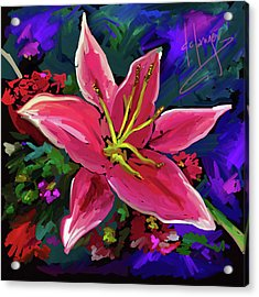 Acrylic Print featuring the painting Lily by DC Langer