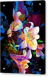 Lily Fiesta Garden Acrylic Print by Hanne Lore Koehler