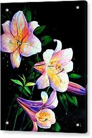 Lily Fiesta Acrylic Print by Hanne Lore Koehler
