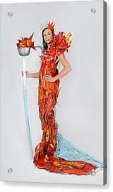 Lily In Fire And Ice Queen Acrylic Print