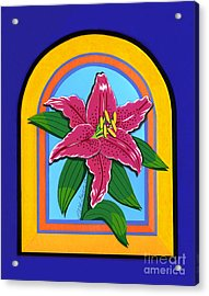 Lily Acrylic Print by Lucyna A M Green