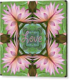 Lily Pad Love Acrylic Print