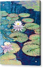 Lily Pads Acrylic Print by Valer Ian