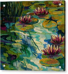 Lily Pond II Acrylic Print by Marion Rose