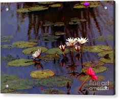 Lily Pond Watercolor Acrylic Print