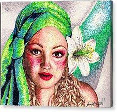 Lily Acrylic Print by Scarlett Royal