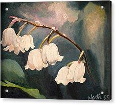 Lily Whites Acrylic Print