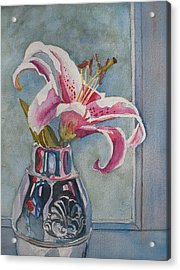 Lily With Carnations Acrylic Print