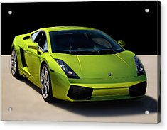 Lime-borghini Acrylic Print by Peter Tellone