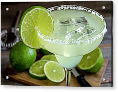 Acrylic Print featuring the photograph Lime Margarita Drink by Teri Virbickis