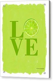 Lime Acrylic Print by Mark Rogan