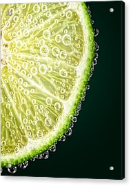 Lime Slice Acrylic Print