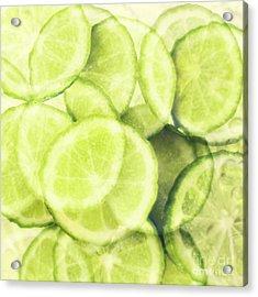 Lime Slices Acrylic Print