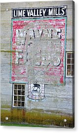 Lime Valley Mills Acrylic Print by David Arment