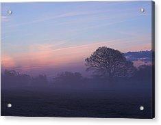 Limerick Foggy Sunrise Ireland Acrylic Print by Pierre Leclerc Photography