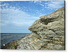 Acrylic Print featuring the photograph Limestone Cliffs by Kennerth and Birgitta Kullman