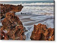 Acrylic Print featuring the photograph Limestone Ocean by David A Lane