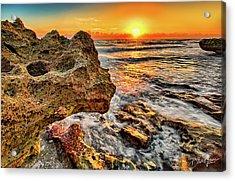 Limestone Sunrise Acrylic Print
