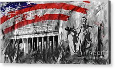 Acrylic Print featuring the painting Lincoln Abe by Gull G