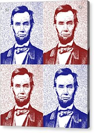 Lincoln Abstract America Acrylic Print by Greg Collins