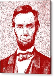 Lincoln Abstract Red Acrylic Print by Greg Collins