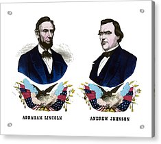 Lincoln And Johnson Campaign Poster Acrylic Print