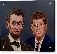 Lincoln And Kennedy Acrylic Print by Stan Hamilton