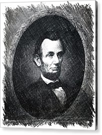 Lincoln Bw Portrait Acrylic Print