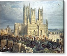 Lincoln Cathedral From The North West Acrylic Print