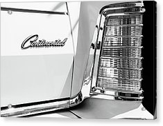 Lincoln Continental Mark Iv Head Light -0149bw Acrylic Print